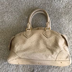 Marc Jacobs ostrich print handbag